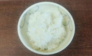 我が家のこんにゃく米入りご飯の180g(大盛り)