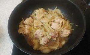 鶏レバー入り親子煮の作り方11