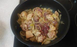 鶏レバー入り親子煮の作り方12