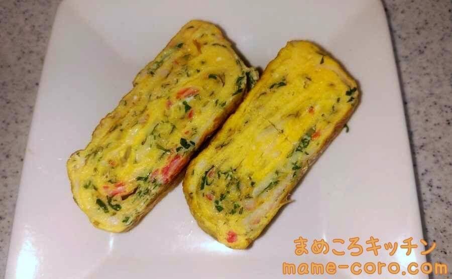 【たんぱく質たっぷり】大葉入り卵焼きのアイキャッチ